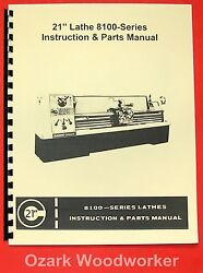 Clausing-colchester 21 8100 Series Metal Lathe Operating And Parts Manual 0162