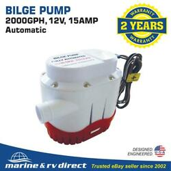 New Automatic 2000 Gph Marine Bilge Pump 12 Volt With Built In Float Switch