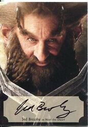 The Hobbit Desolation Of Smaug Poster Autograph Card Jed Brophy As Nori Dwarf