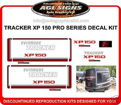 Evinrude Tracker Xp 150 Pro Series Decal Set, Reproductions Xp150