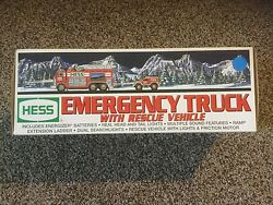 New 2005 Hess Emergency Truck With Rescue Vehicle. In Box.