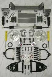 1953-1956 Ford F100 Mustang Ii Manual Front End Suspension Kit Ifs Stock Slotted