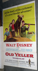Old Yeller Original Disney 27x41 One Sheet Movie Poster Tommy Kirk/chuck Connors