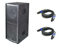 Peavey Qw218 Pro Audio Passive Sub 6400w Dual 18 Arena Subwoofer And 2 Cables