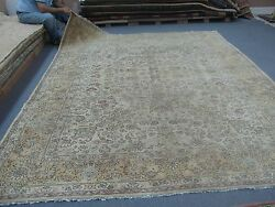 Semi- Antique Turkish Sivas Oushak Rug Hand Knotted Wool 8and039-6 X 11and039-6