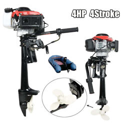 4hp Outboard Motor 4 Stroke 57 Cc Boat Engine With Air Cooling System Us Stock