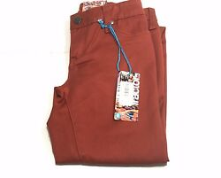 Tractor Girls Kids New Spice Brown Soft Jeans Pants 26 X 28.5 Sz 12 Rtl 56