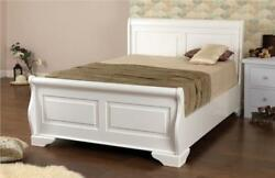 White Wooden Electric Adjustable King Size 5ft Dual Or Non-dual Pine Sleigh Bed