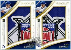 Kris Bryant 2015 Panini Immaculate National League Logo Patch Rc Set 1/2 And 2/2