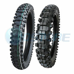 Front And Rear Motorcycle Tires 80/100-21 And 110/90-19 Max Motosports Tires