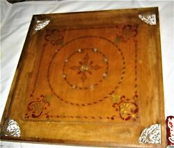 Antique Primitive Usa Folk Art Country Home Wood Chess Checker Game Toy Board