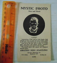 1929 Charles Lindbergh Mystic Photo Card Specialty Advertising Co. Rare