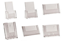 A6 Dl Trifold A5 A4 Leaflet Holders Counter Stand Wall Flyer Menu Dispenser