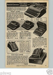1954 Paper Ad Smith Corona Portable Typewriter Sterling Clipper