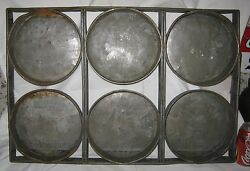 Antique Chicago Us Metallic Bakery Rack Frame Art Oven Cake Pastry Tray Pan Mold