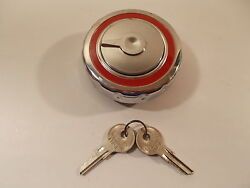 53 54 Plymouth Station Wagon Gas Fuel Cap Locking Chrome Vintage Usa Made Stant