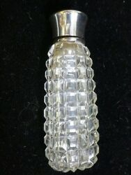 Vintage Sterling Silver And Cut Crystal Lay Down Perfume Bottle