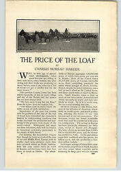 1909 Paper Ad 9 Pg Article The Price Of The Loaf Charles Harger