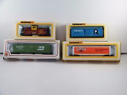 4 New Bachmann Ho Scale Train Electric Box Cars Caboose Used / For Parts Only