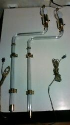 Rare Mcm Charles Hollis Mr Lucite Wall Sconces Lamps. Dealers Welcome