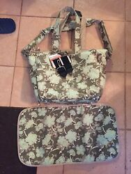 Ju Ju Be Be Spicy bag in Mint JuleWith Swivel Clips Messenger Strap