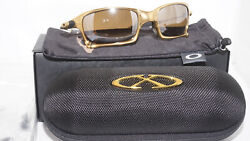 OAKLEY New Sunglasses Gold X-Squared 24K 396750 Titanium Polari OO6011-D396