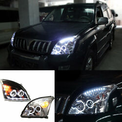 For Toyota Prado FJ120 LC120 4000 2003-2009 Auto Set Headlight High+Low Beam Len