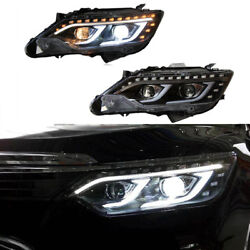 For Toyota Camary 2013-2015 LED Headlight HID Bi-xenon Projector Assembly Light