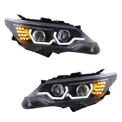 For Toyota Camary 2012-14 Composite Headlight Daytime Running Light HID Assembly
