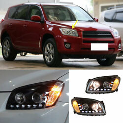 For Toyota RAV-4 2009-12 Headlight HID Angle Halo Lens High+Dipped Beam Assembly