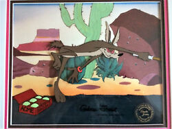 Andldquosoup Or Sonicandrdquo 1980 Original Production Cel Signed Chuck Jones And039wile E. Coyoteand039