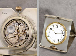 Miniatur Carriage Clock With Quater Repeating, Siver Case With Niello Technology