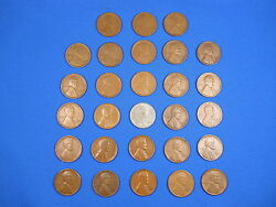 Lincoln Wheat Cent Penny San Fran S Mint Set 1916s-1955s 28 Coins See List