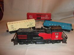 Lionel Seaboard 602  NW-2 Diesel  Switcher 10 Cars Tracks Accessories Lot!!!