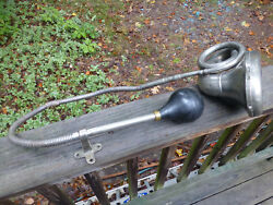 Antique Ford Model T Nonpareil Horn With Tube/hose Bulb