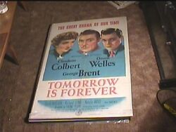 Tomorrow Is Forever 1945 Orig Movie Poster Orson Welles Claudette Colbert