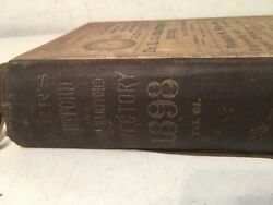 Rare 1898 Geer's Directory Of Hartford Mark Twain Local Ads Colt Firearms