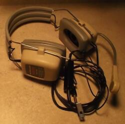 Vintage Telex Ebm-1400 Pilotand039s Headset/microphone Excellent Tested Working Vgc