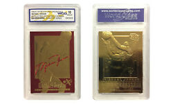 1996 97 MICHAEL JORDAN SKYBOX EX 2000 CREDENTIALS 23K GOLD CARD GEM MINT 10 RED $12.95