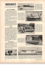 1959 Paper Ad Houseboats Falls City Marinette Flotel Pluckand039s Craft 22and039 Driftwood