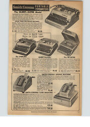1956 Paper Ad Smith Corona Porable Typewriter Silent Super Sterling Skyriter