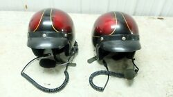 Matching Motorcycle Helmets Built In Intercom Microphone Headset Size L