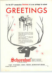 1959 Paper Ad Schoenhut Toy Play Piano 87 Years Christmas Greetings