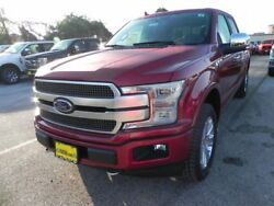 2018 Ford F-150 Platinum 2018 Ford F150 Platinum 5 Miles Ruby Red Metallic Tinted Clearcoat Crew Cab Pick