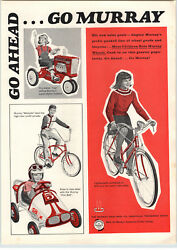 1966 Paper Ad Murray Ohio Farm Tractor Pedal Car Wildcat Banana Seat Bicycle