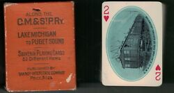 Vintage Chicago, Milwaukee, St. Paul  Railroad  Deck of Scenic Playing Cards