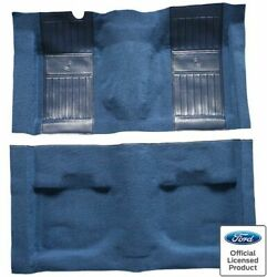 Molded Carpet With 2 Medium Blue Running Pony Inserts Complete Mustang Mach I