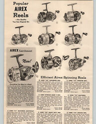 1955 Paper Ad Airex Fishing Reels Larchmont 311 Mastereel 325 Heavy Duty