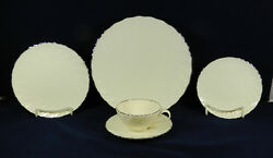 29-pcs Or Less Of Lenox Weatherly Pattern D 517 Fine Cream Colored China