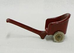 Antique Cast Iron Toy Red Pull Cart Stroller